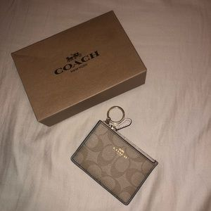 Coach keychain id/card holder